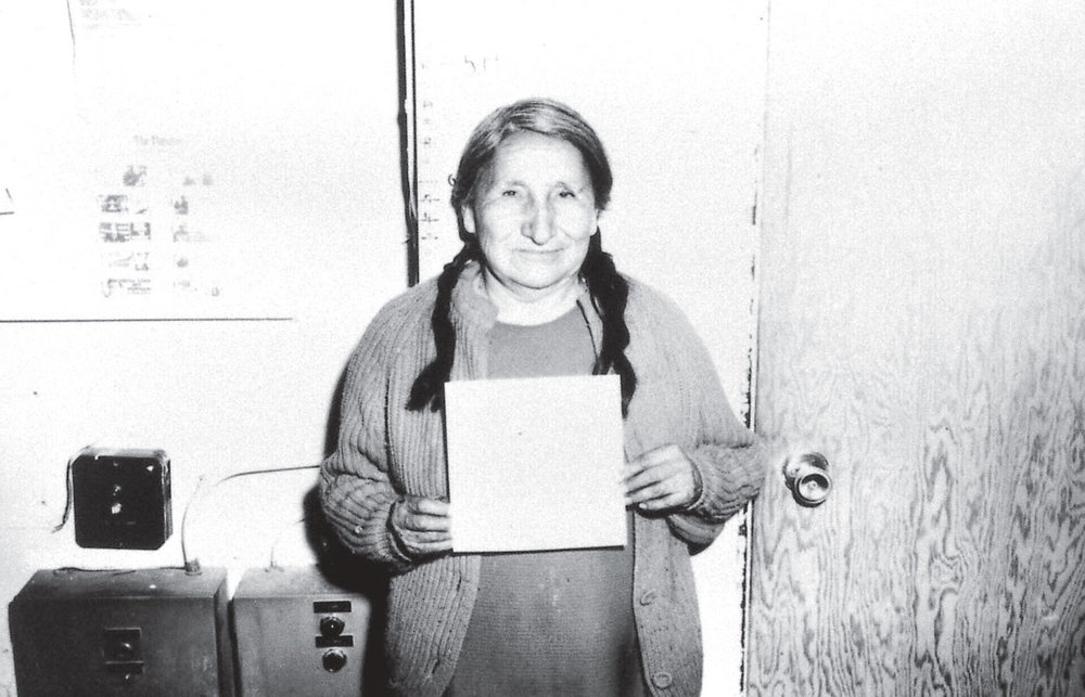 Mug shot of Nellie Red Owl from the political trials that followed the occupation of Wounded Knee in 1973