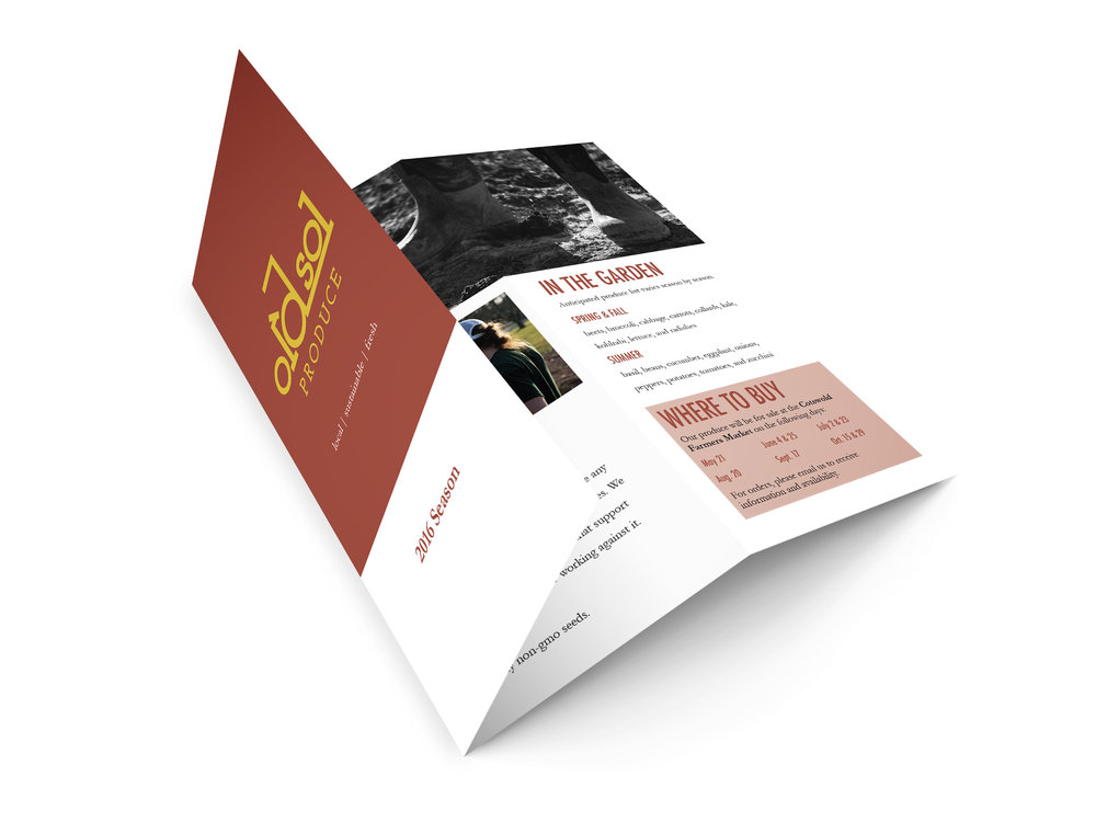 Season brochure featuring company information, produce list, and market information. (2016)