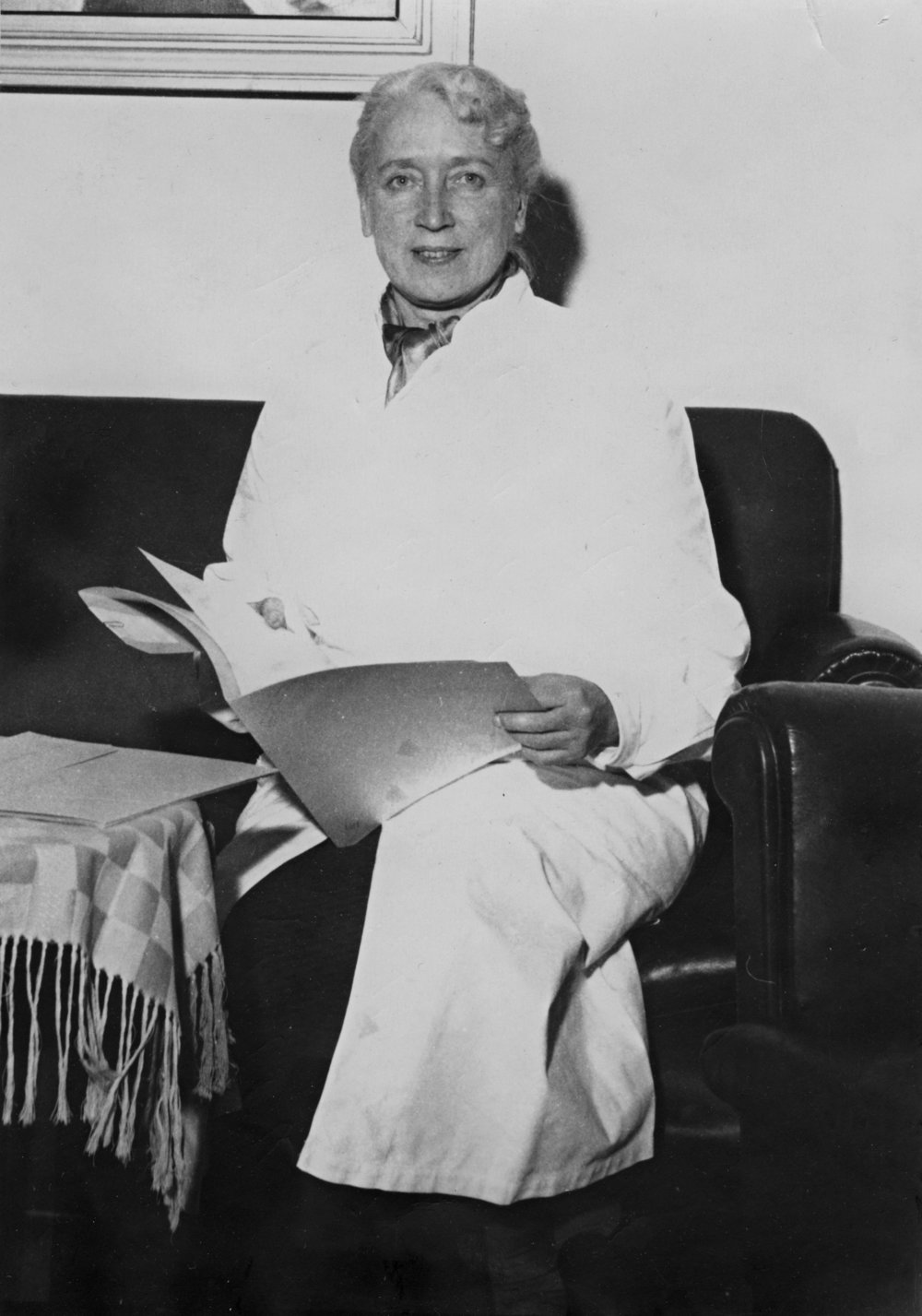 Chief physician, Doctor Göta Tingvald-Hannikainen (1896–1982) was a pioneer of Finnish student healthcare. She promoted the matter already in the 1930s – at a time when Finnish healthcare was still undeveloped. Besides her work for student health, she was also one of the most important tuberculosis doctors in Finland.  Photo: Esa Hilli / Helsinki University Museum (1953–1954)