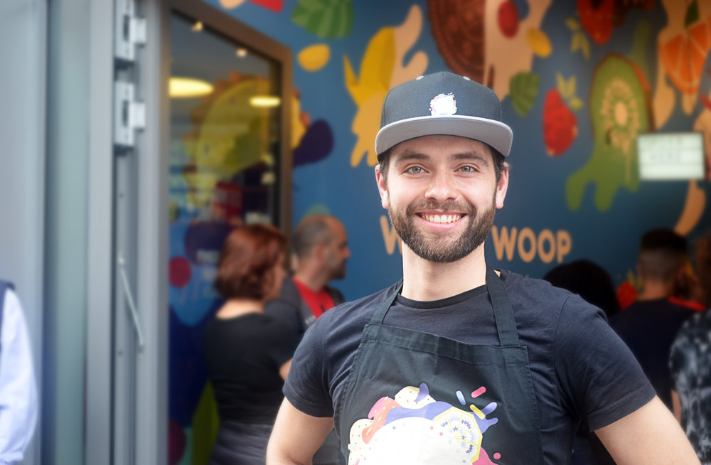 Philipp, one of the founders of Woop Woop who didn't follow the conventions and became an ice cream maker.
