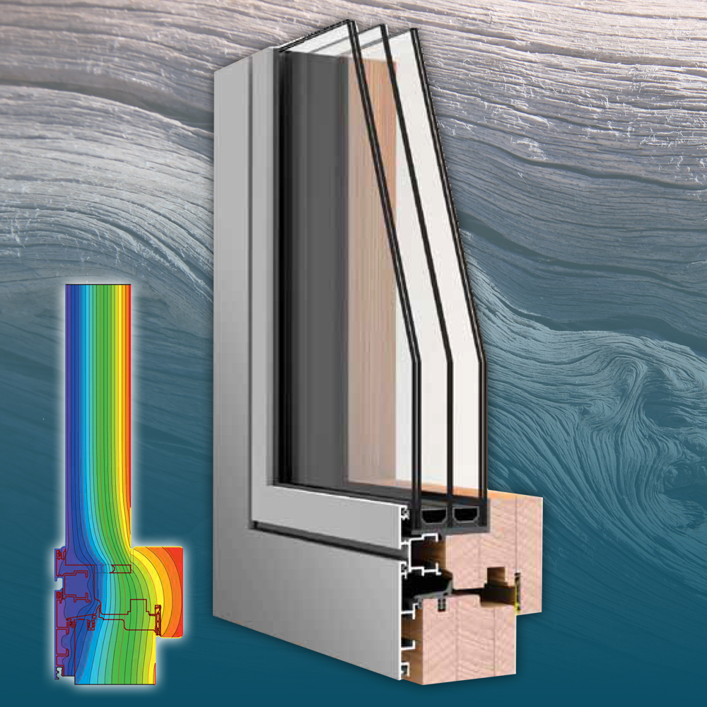 Flat - Műszaki paraméterekÖsszérték: Uw= 0,8 W(m²K)Beépítési mélység: 77,5 mmHőátbocsátás: Uf = 1.3 W/(m²K)3 gumitömítésÜvegezés: 3 rétegű, 50 mmÜveg hőátbocsátása: Ug = 0,5 W/(m²K)Hangszigetelés: 43 Rw (dB)