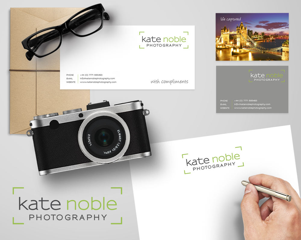 Kate Noble   Kate Noble is a freelance photographer, whose work has been published in national and international press.    We worked closely with Kate to develop her logo. We also designed her business cards and stationery.   www.katenoblephothography.com