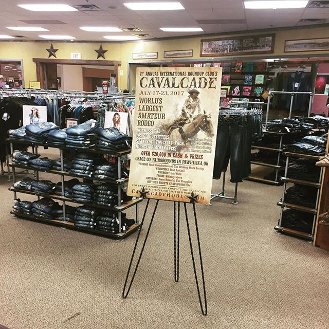 @cavenders is proudly displaying the 2017 Cavalcade Rodeo poster! Thank you Cavender's for your continued support towards the World's Largest Amateur Rodeo! #cavalcaderodeo #71yearsandstillkickin #roadtothecavalcade