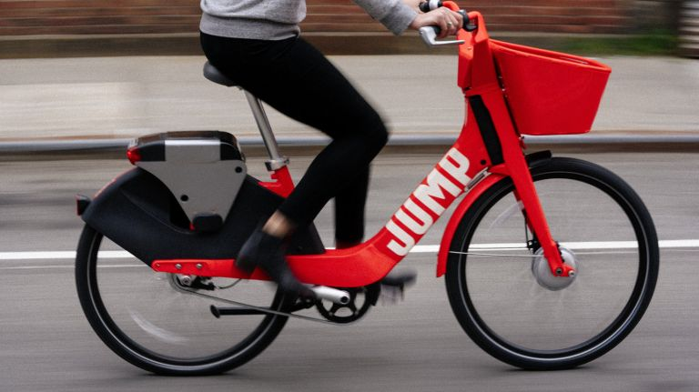 JUMP bikes, a Brooklyn-based bike sharing company.