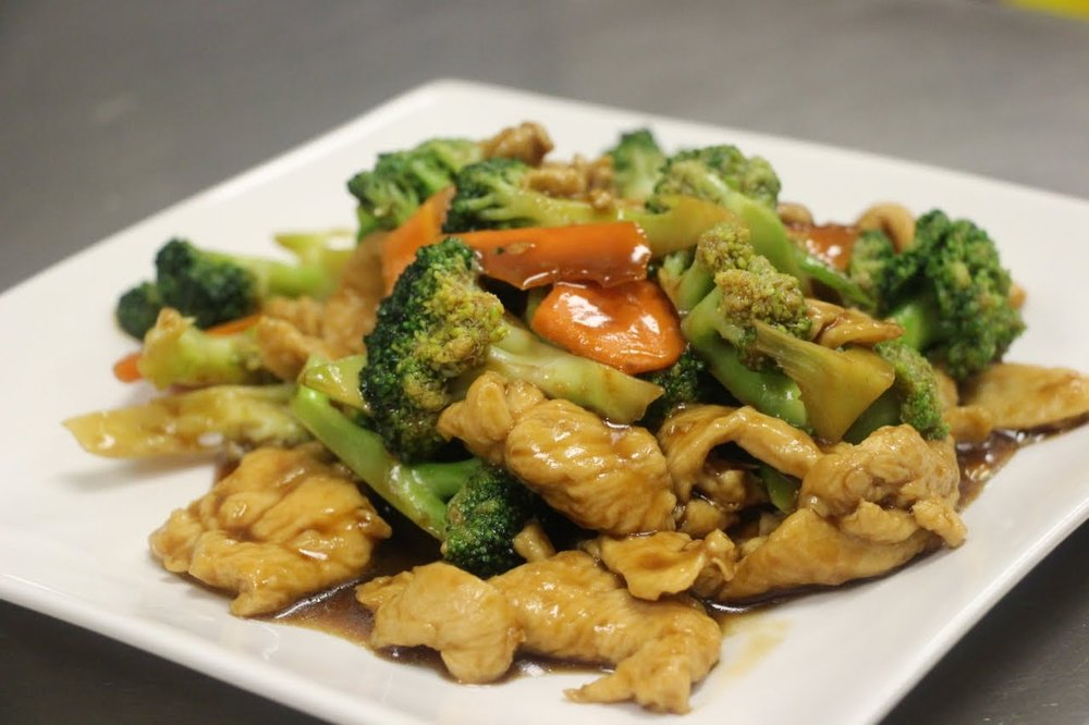 Order: Chicken and Broccoli   220 calories per serving, 7 grams of fat, 31 grams of protein