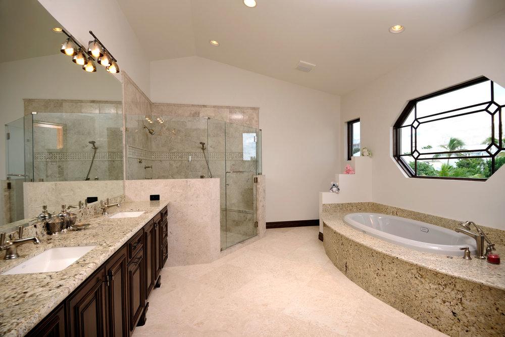 Modern Mediterranean Home Master Bath