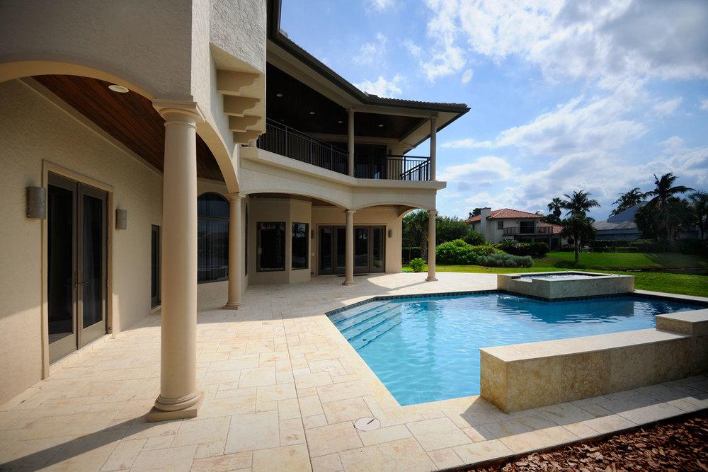 Modern Mediterranean Home Pool