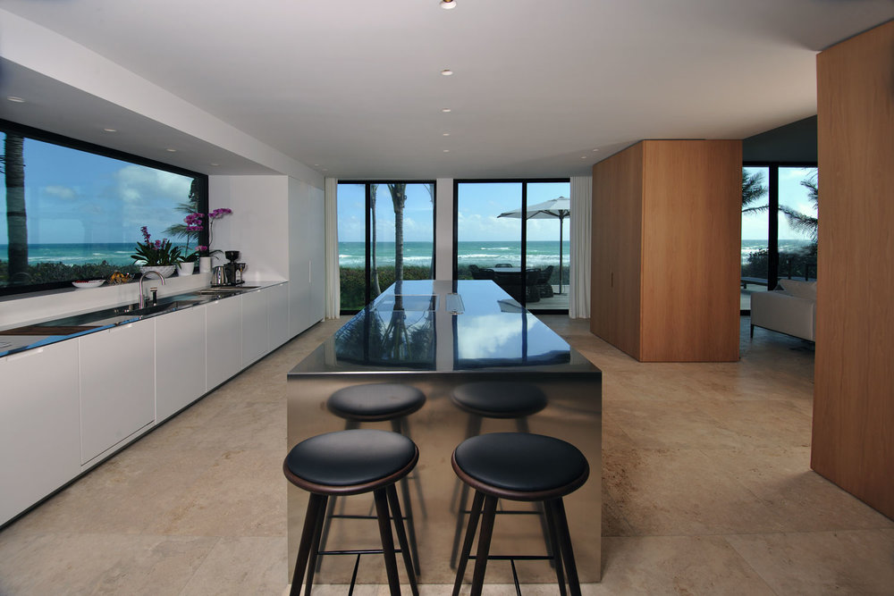 Modern International Kitchen, Ocean View