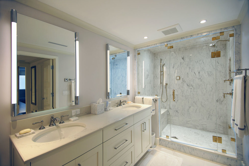 Transitional Traditional Home Master Bathroom