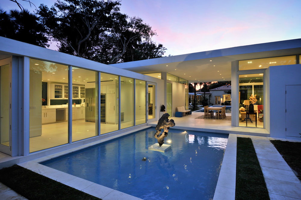 Modern Home Extension Reflection Pond