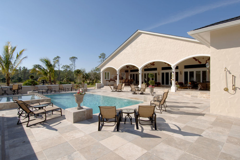Plantation Home Pool Deck