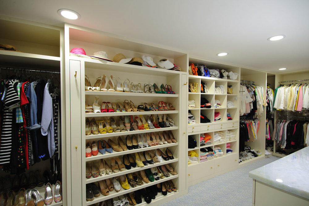 Transitional Home Master Closet