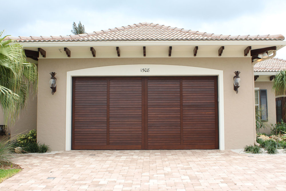 British West Indies Home Garage Door