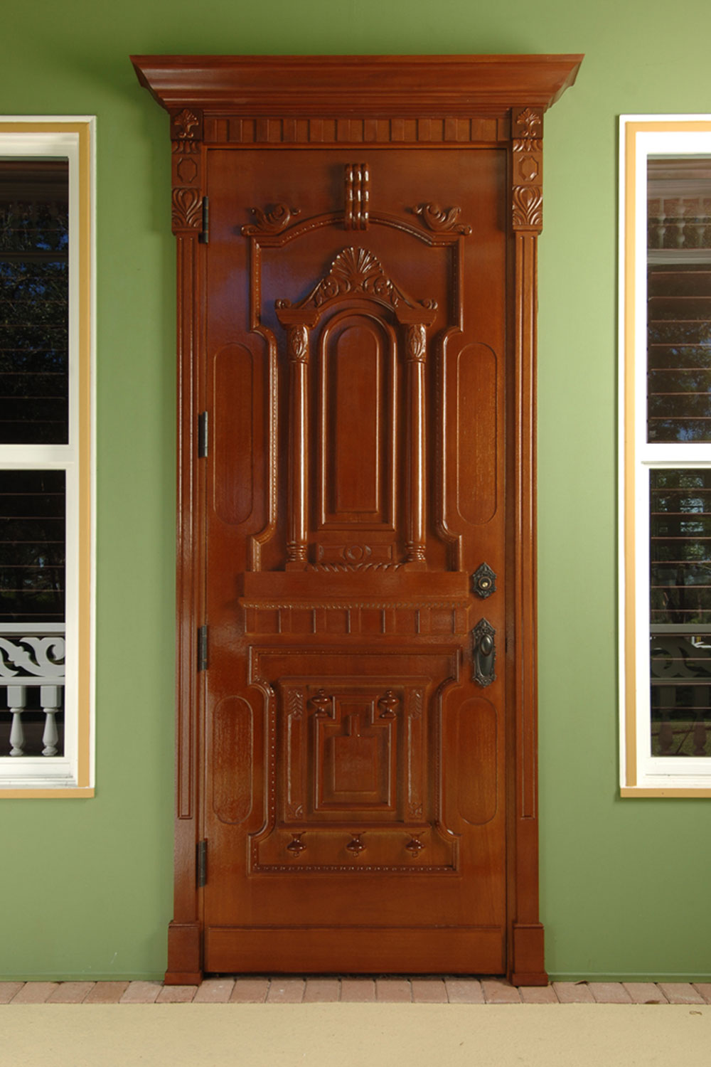 Victorian Home Custom Wood Door