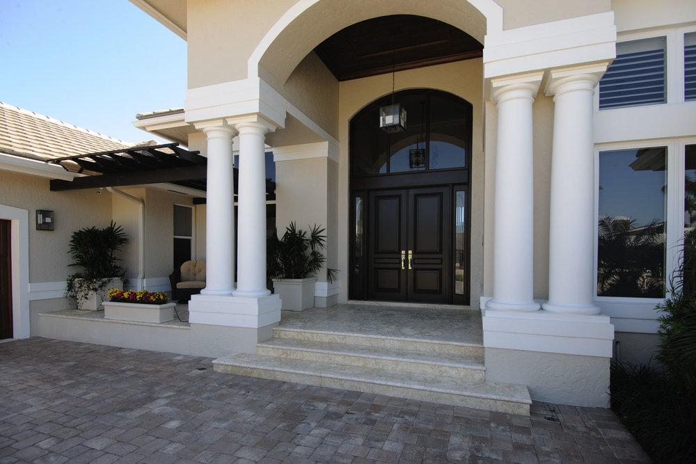 Resort Home Front Entrance