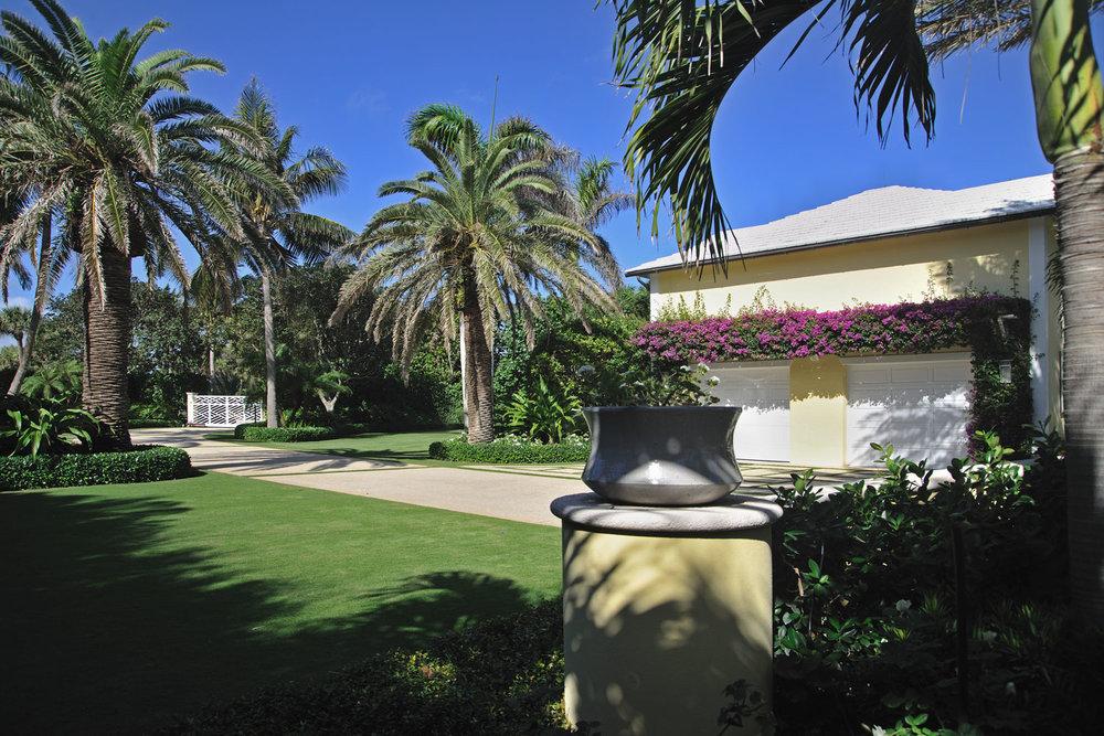 Caribbean Colonial Home Garage