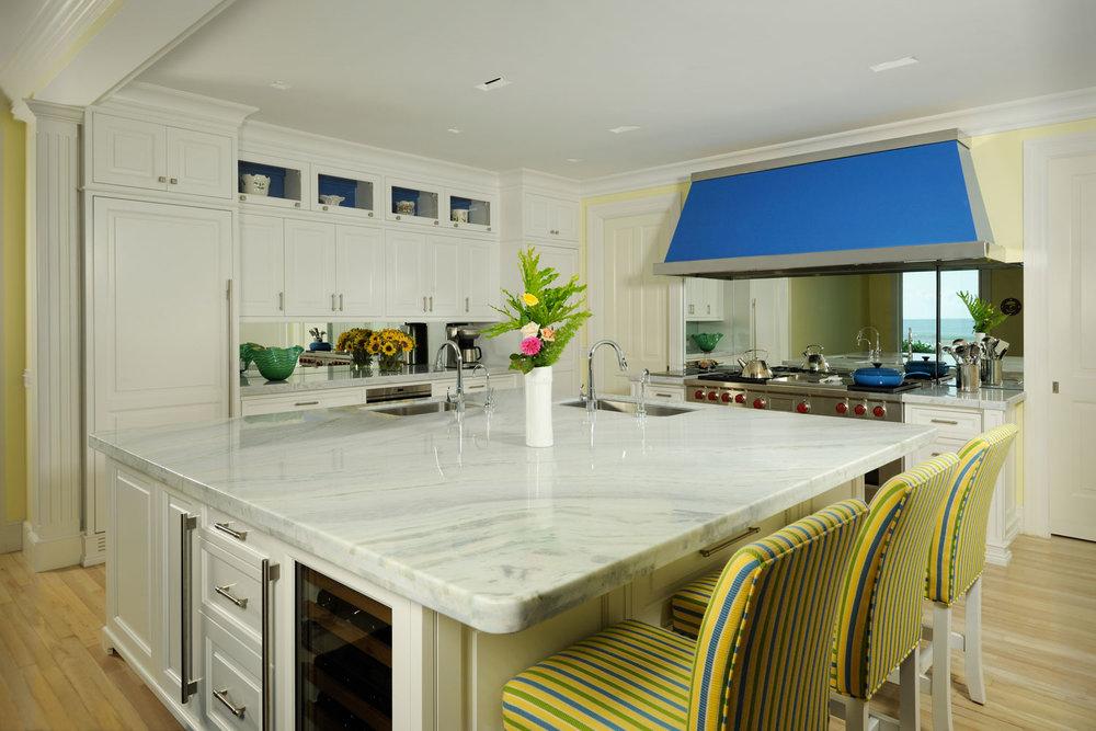Caribbean Colonial Home, Classic Edwardian Hamptons Kitchen