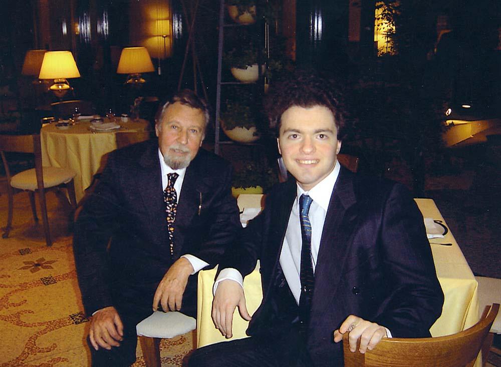 Antonio Mormone con Evgenij Kissin