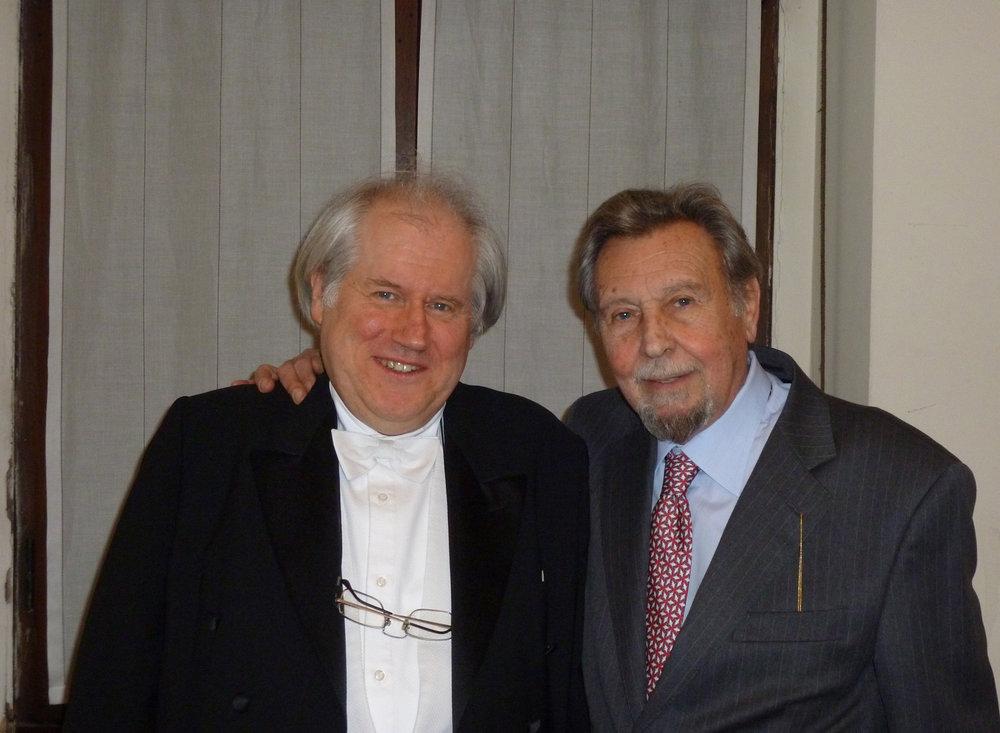 Antonio Mormone con Grigory Sokolov
