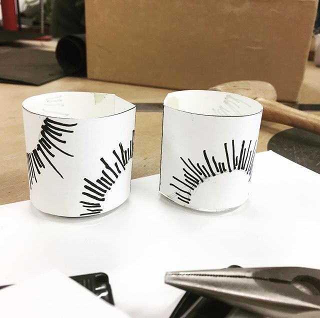 More models in progress for my graduation collection. #silversmithing #drinkingcups #annabelhooddesign