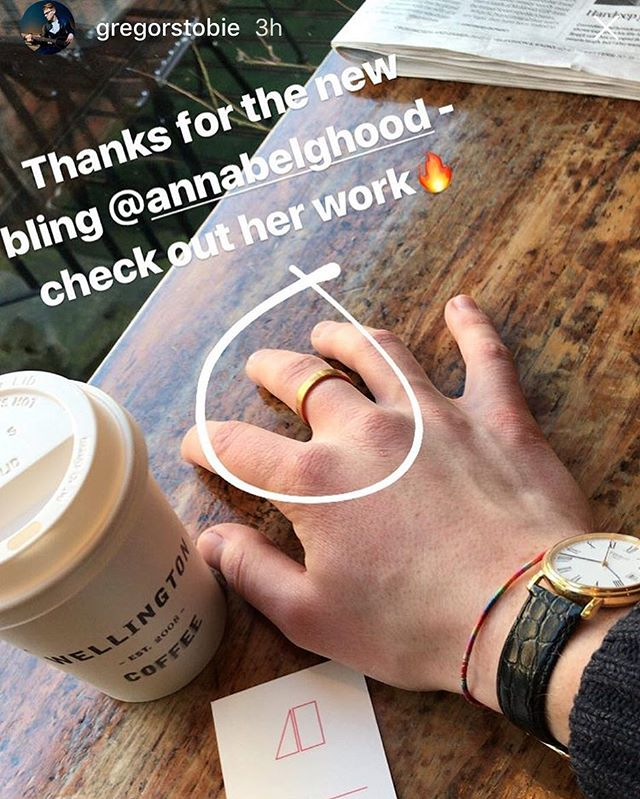 Lovely to see a happy customer @gregorstobie thank you! #annabelhooddesign #jewellery #happycustomer