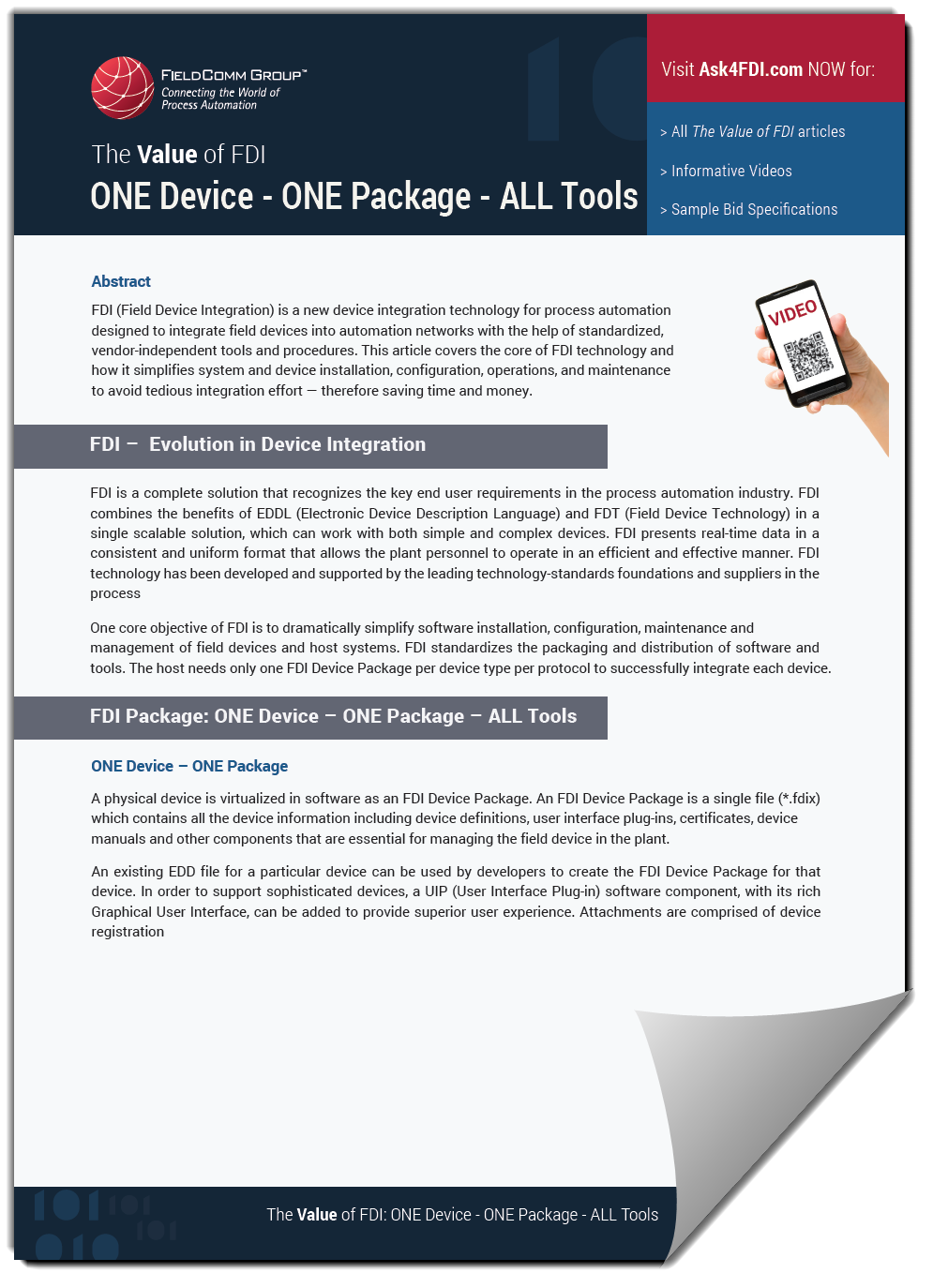 The Value of FDI:ONE Device - One Package - ALL Tools -