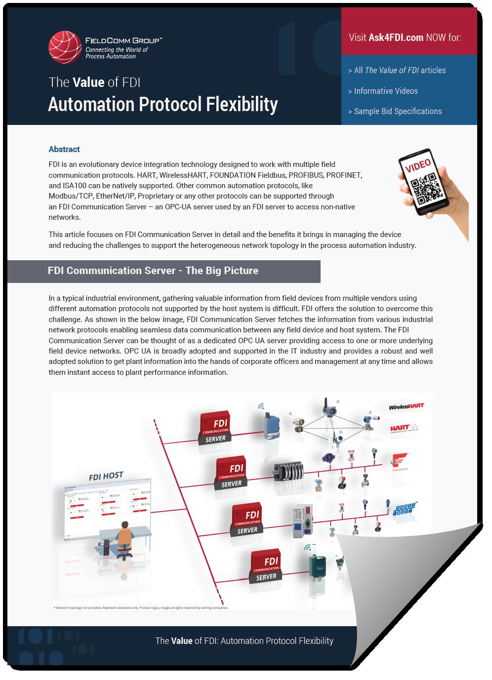 The Value of FDI: Automation Protocol Flexibility -