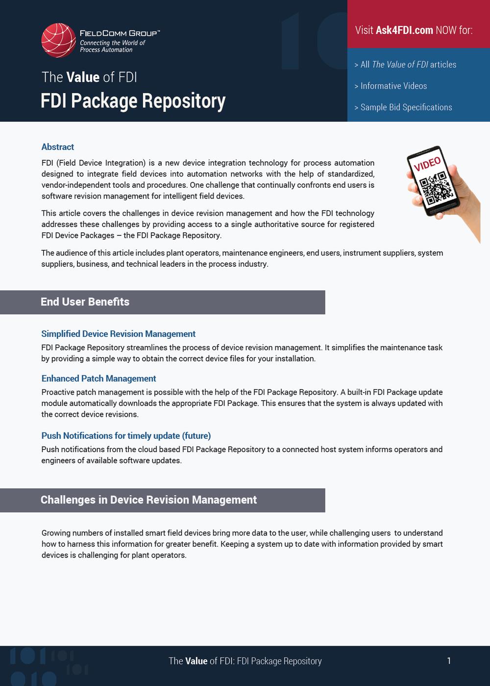 FDI Package Repository -