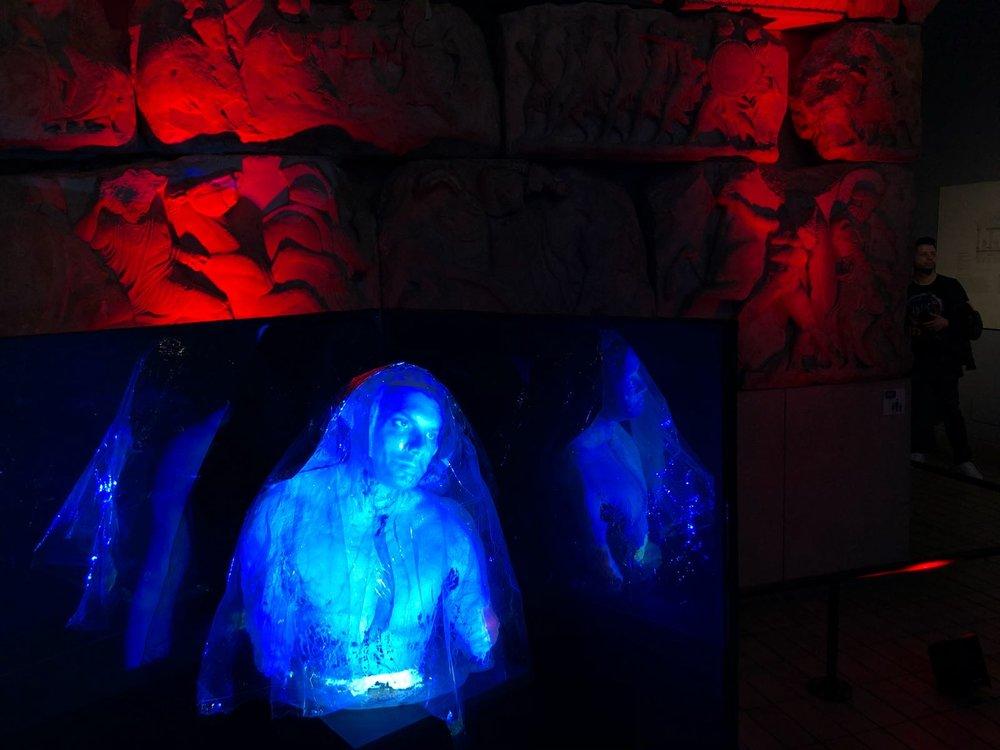 'Olympus Arisen' Mock Hologram shown at the British Museum Late June 2018