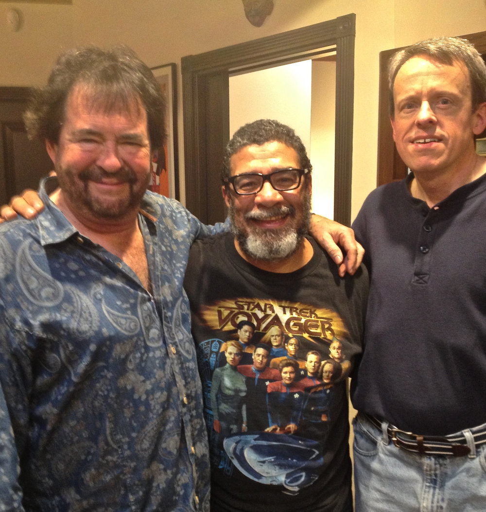 Ron King, jazz trumpeter & composer, with Lenny Castro & Les