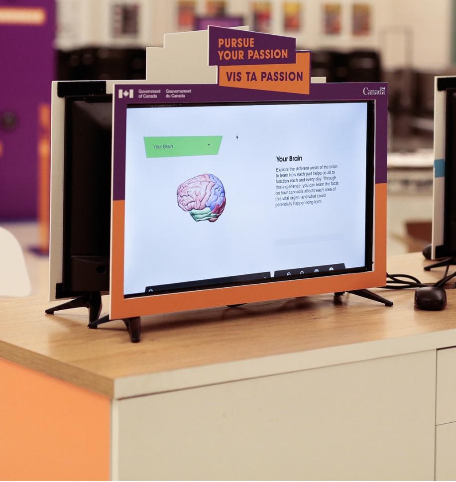 Visuel du Cerveau 360 et de l'expérience de réalité virtuelle