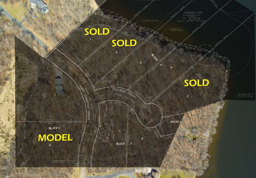 Only two lake lots remaining... - They're selling fast, so contact us for a tour!