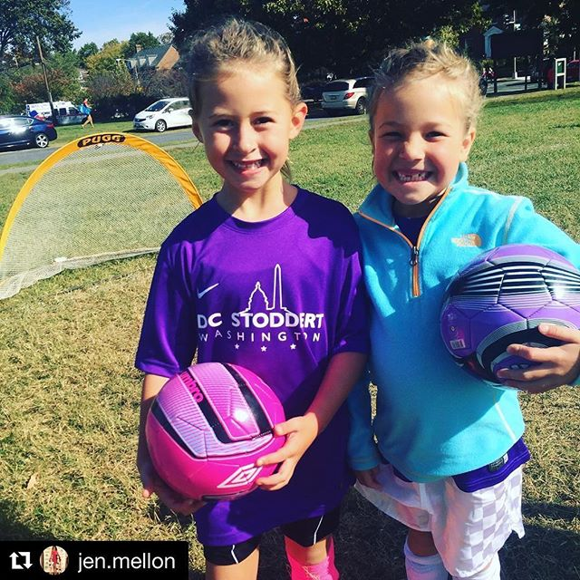 The girls scored lots of goals today!