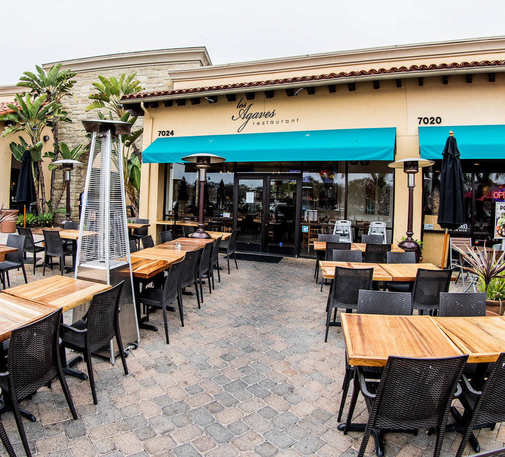 Front of Los Agaves Patio in Goleta