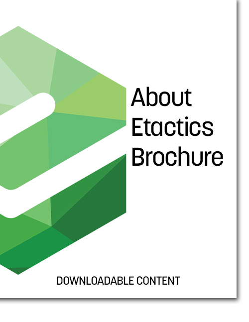 About Etactics Brochure Cover