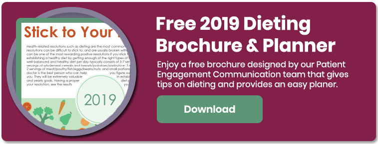 2019 Dieting and Brochure Planner