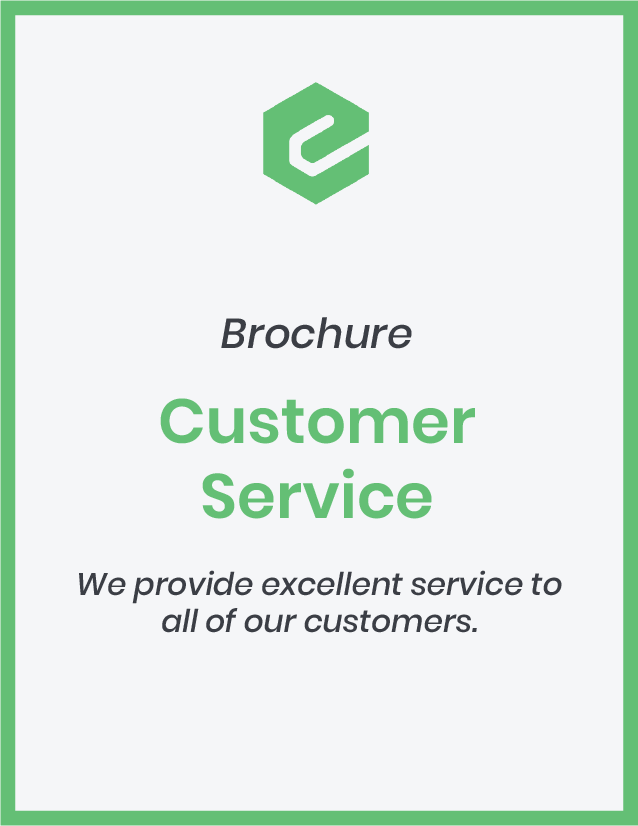We provide excellent service to all of our customers.