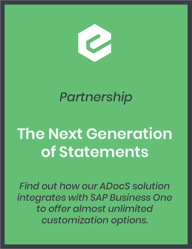Find out how our ADocS solution integrates with SAP Business One to offer almost unlimited customization options.