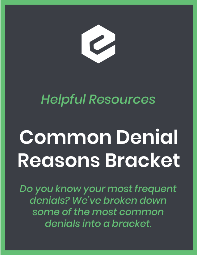 Do you know your most frequent denials? We're broken down some of the most common denials into a bracket.
