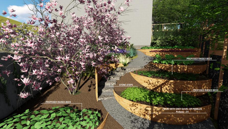 <p><strong>Terraced Kitchen Garden</strong>Meandering hillside.<a href=terraced-kitchen-garden>More →</a></p>