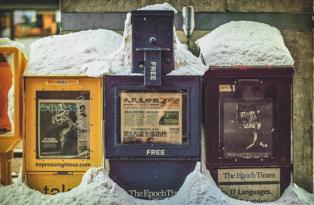 Chinatown Chicago Newspaper Box