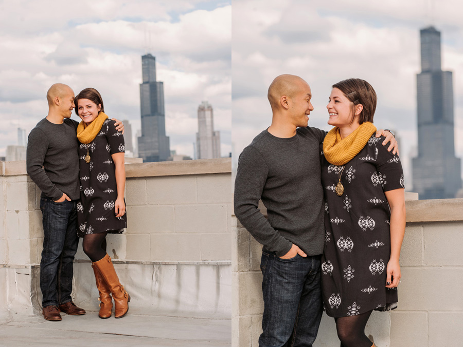 Pilsen Neighborhood Chicago Engagement Session by Two Birds Photography 01