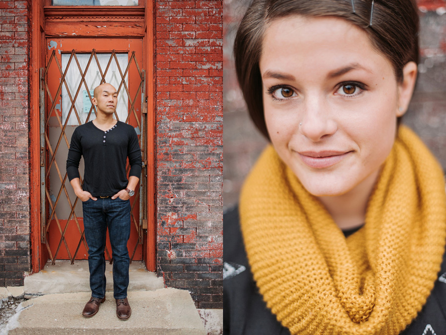 Pilsen Neighborhood Chicago Engagement Session by Two Birds Photography 09