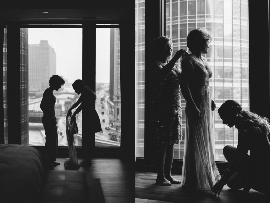 Chicago Winter Wedding by Two Birds Photography at the Boarding House07