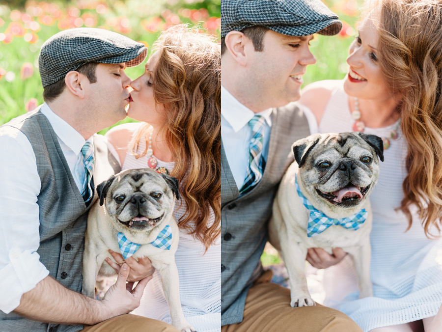 Engagement Session at Lilacia Park with Pug by Two Birds Photography01