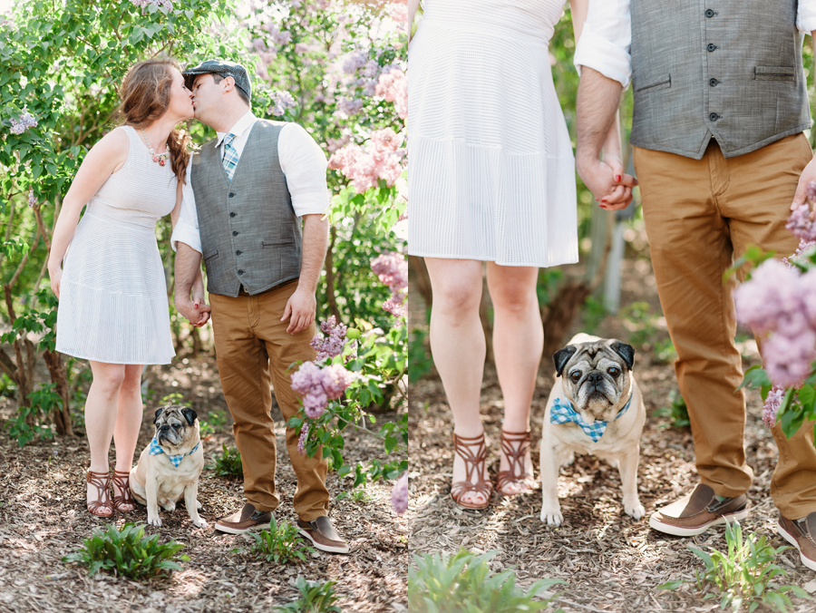 Engagement Session at Lilacia Park with Pug by Two Birds Photography04