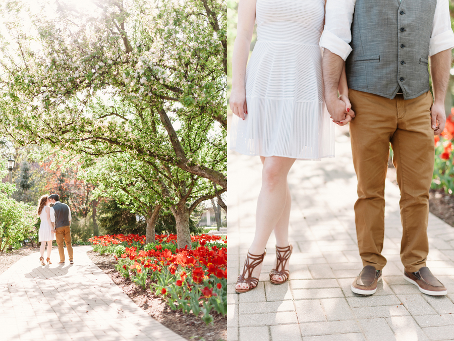 Engagement Session at Lilacia Park with Pug by Two Birds Photography06
