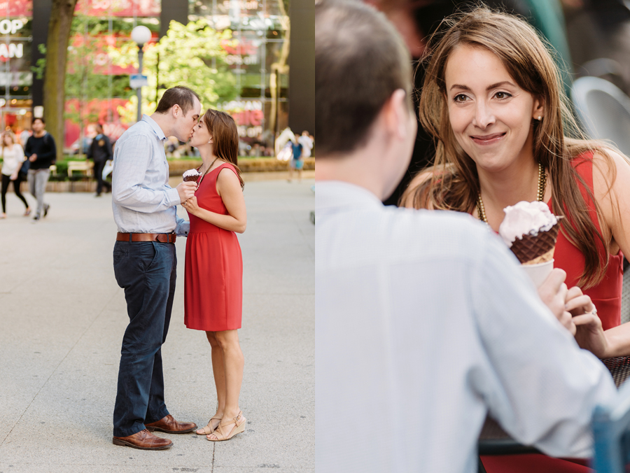 University of Chicago Engagement Session with Ghiradelli Ice Cream and Trip to the Beach by Two Birds Photography007