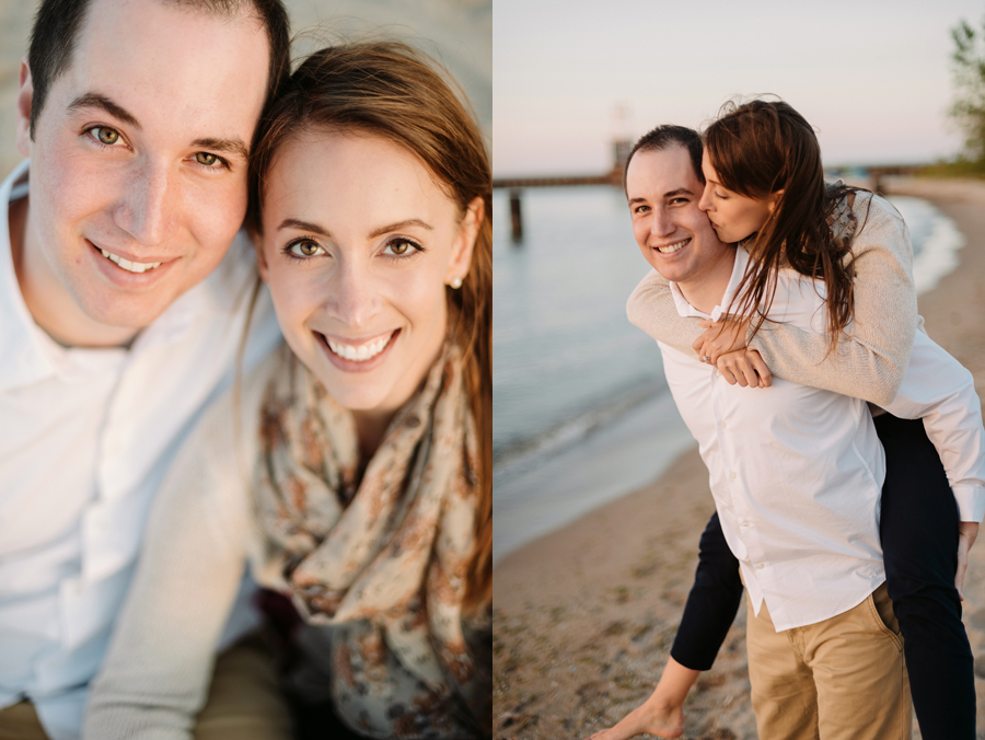 University of Chicago Engagement Session with Ghiradelli Ice Cream and Trip to the Beach by Two Birds Photography011