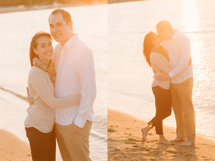 University of Chicago Engagement Session with Ghiradelli Ice Cream and Trip to the Beach by Two Birds Photography012